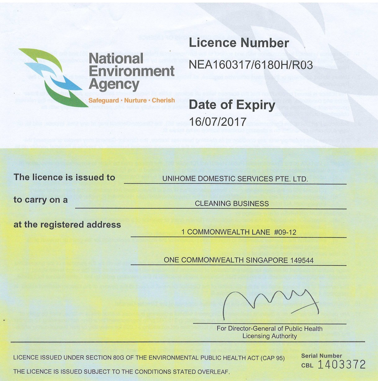 UH2016NEAjulyLicence